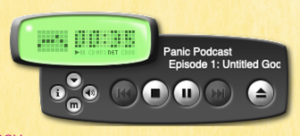 Text rendering on the podcasts page.